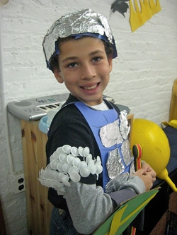 Diy purim costumes so easy a child could make them kveller knight costume solutioingenieria Image collections