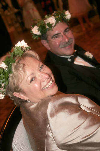 Monica's mother and father at her wedding in 2006.