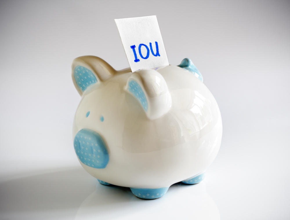 iou in piggy bank