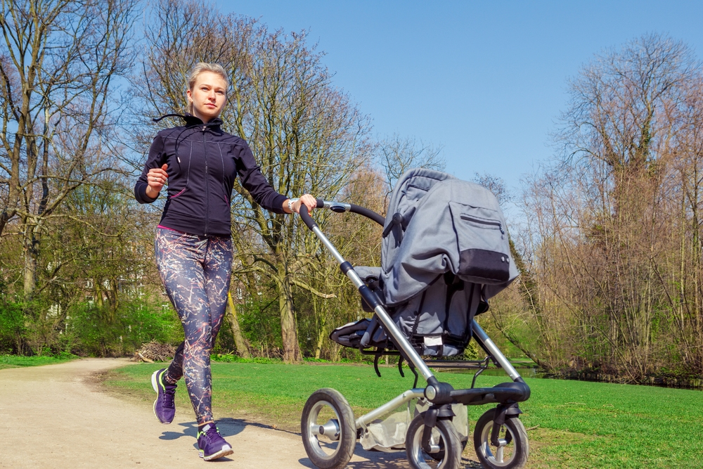 running with stroller