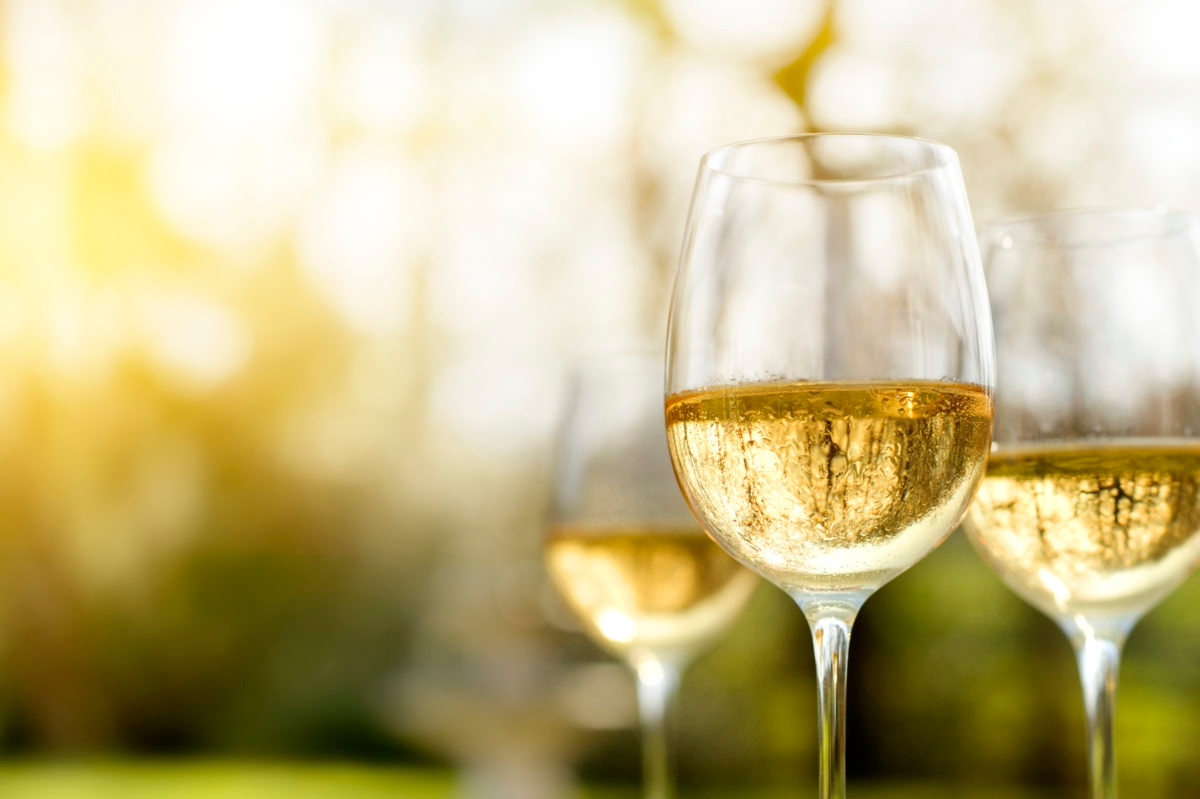 Alfresco chilled white wine in late summer or autumn.