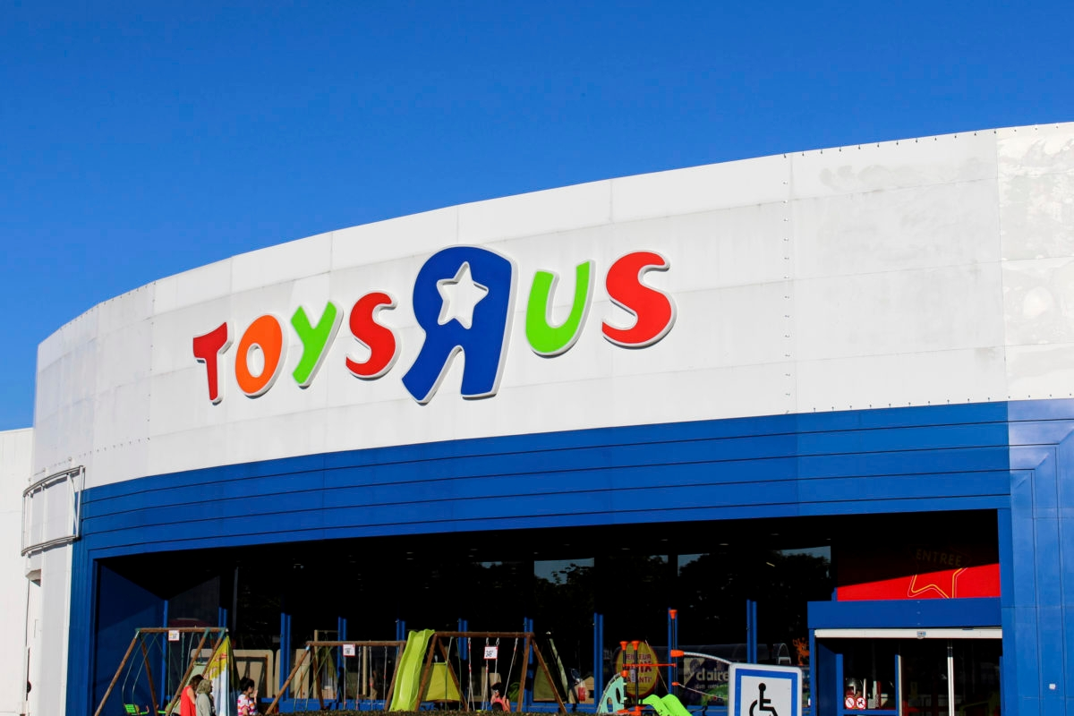 "Chennevieres sur Marne - France, July 18, 2016: This is the photograph of the front of a Toys ""R"" Us."