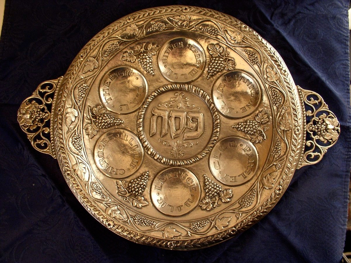 Golden Passover Plate