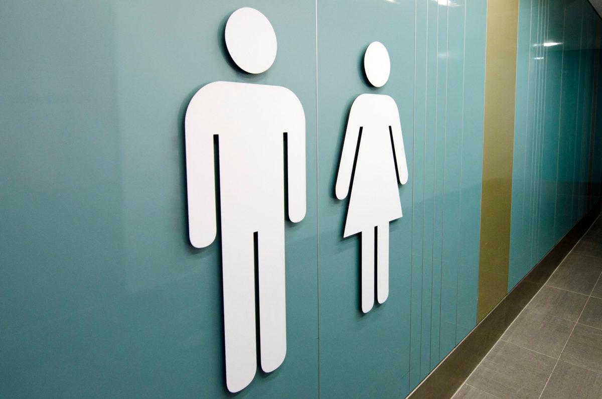 Men and women toilet signs.