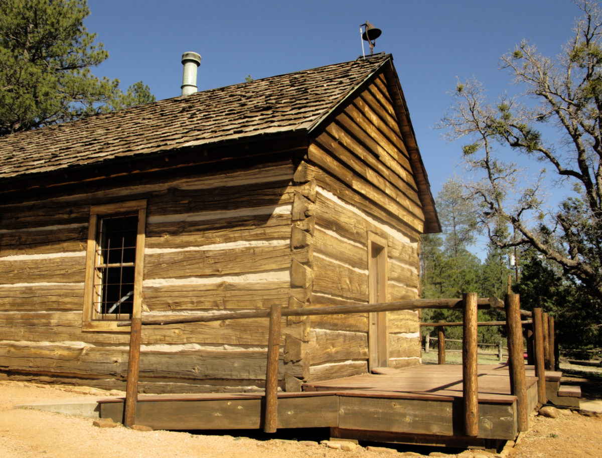 View of the oldest standing schoolhouse in Arizona. Built in 1884 in Strawberry,Arizona.