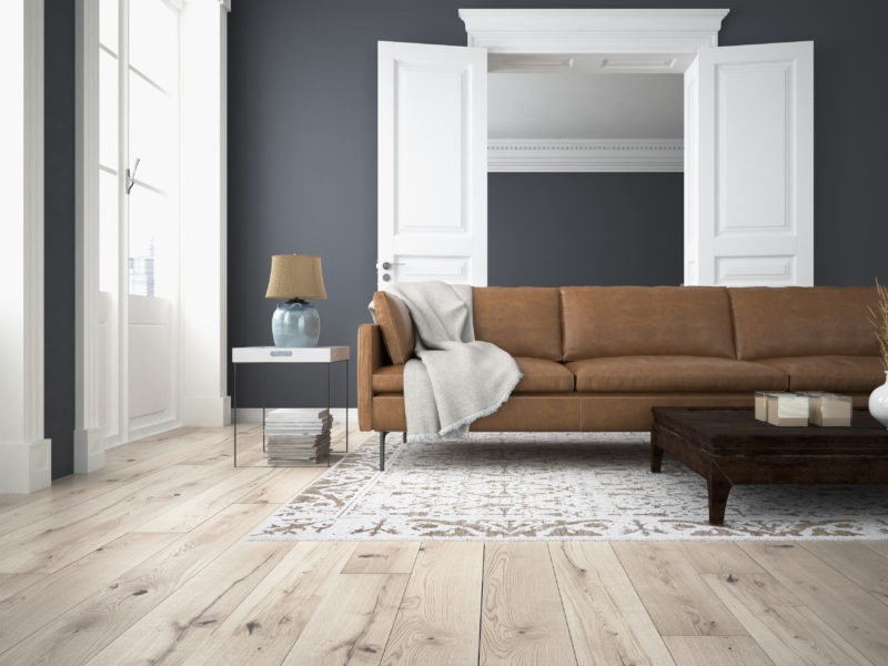 sofa of tissue in a modern living room. 3d rendering