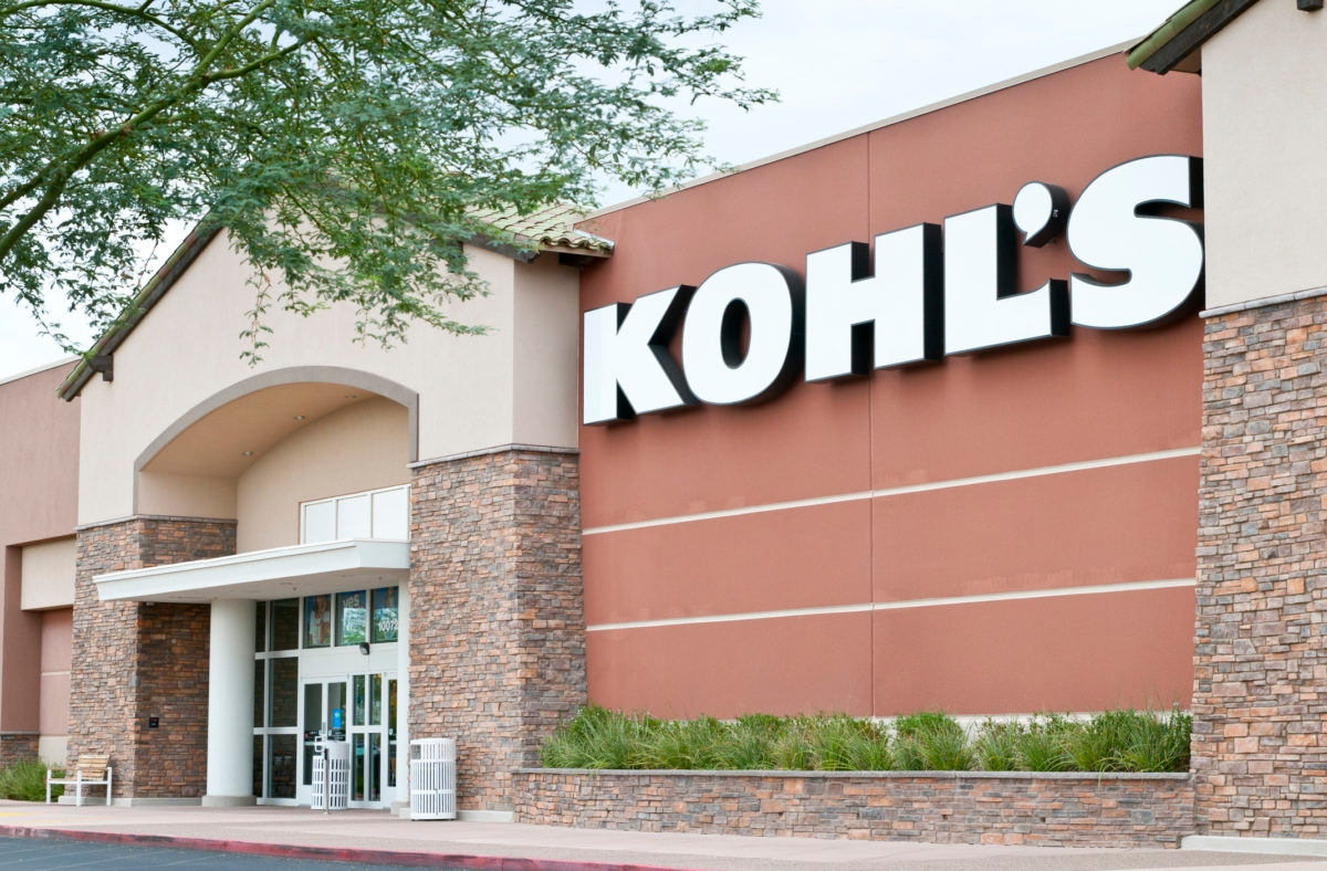 Phoenix, United States- August 25, 2011: Kohl's department stores offer clothing and household merchandise across the United States. The stores operate in the market between high-end department stores and discount stores.