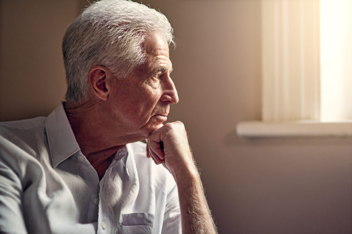 Shot of a senior man looking thoughtful