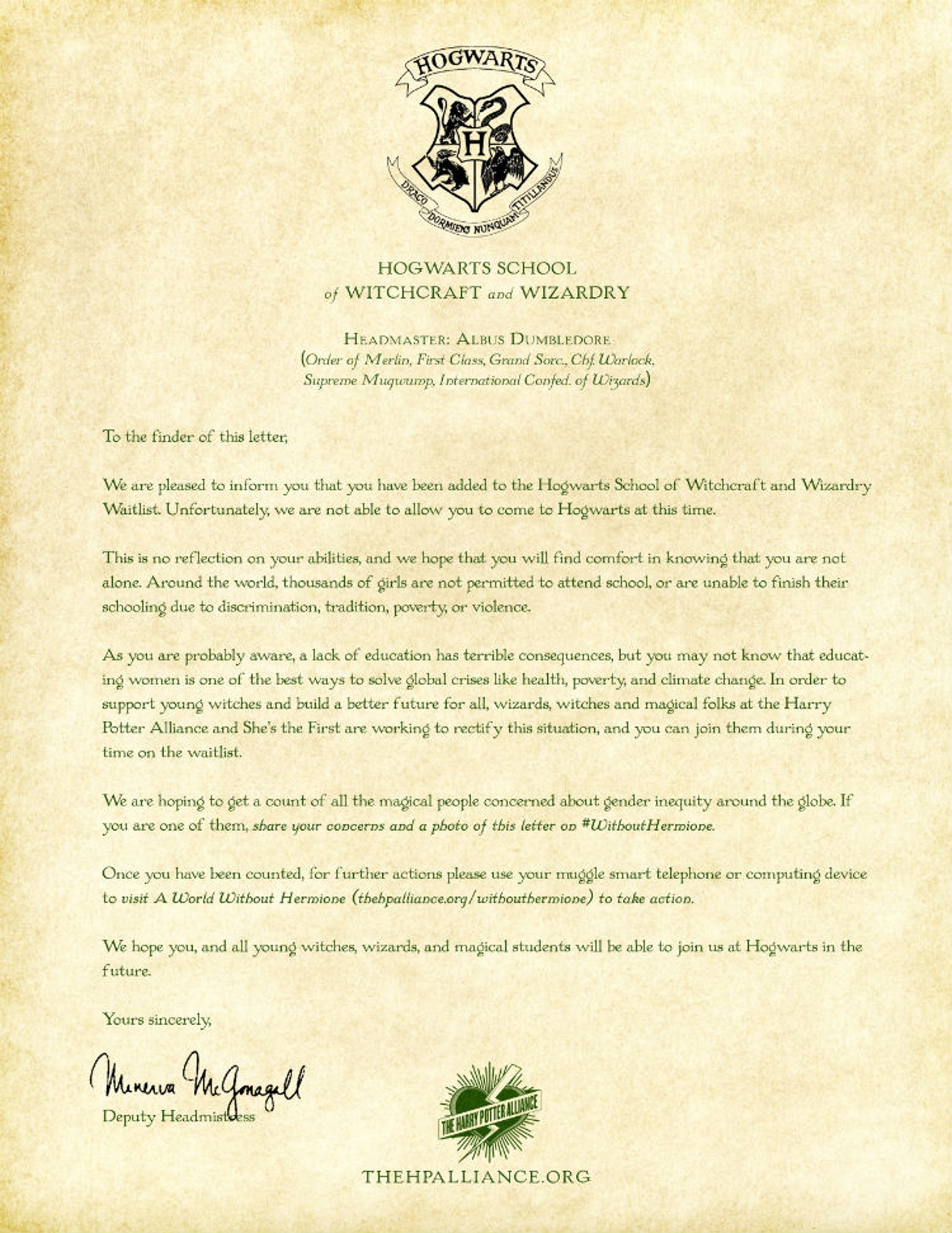 hogwarts acceptance letter template google docs  This Hogwarts Rejection Letter Is Going Viral for a Good ...