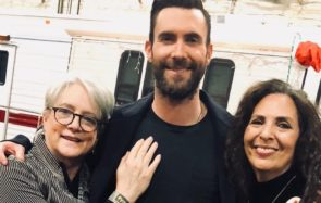 Adam Levine and his mom