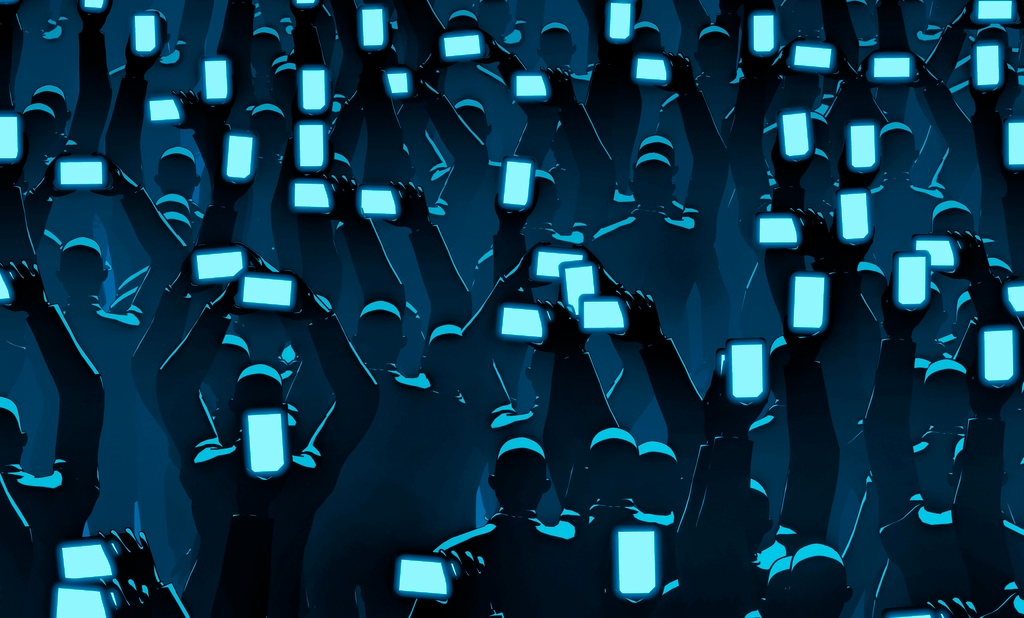 Image result for parents on phones at concert