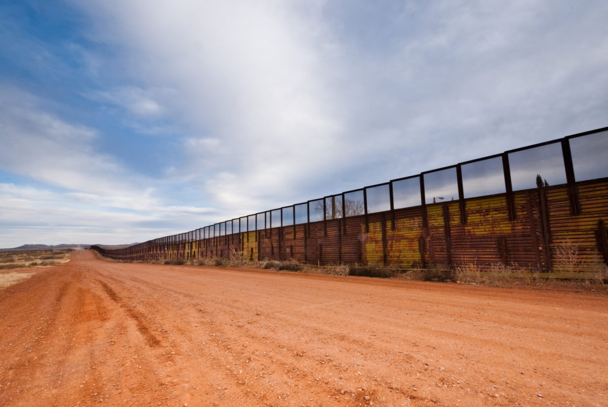 USA - Mexico Border Fence, Naco, Arizona