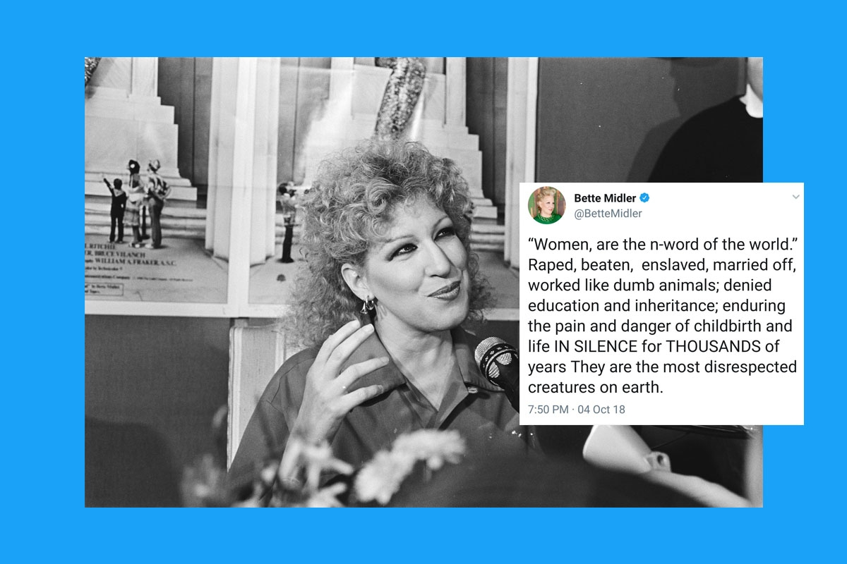 Bette midler comments on trump