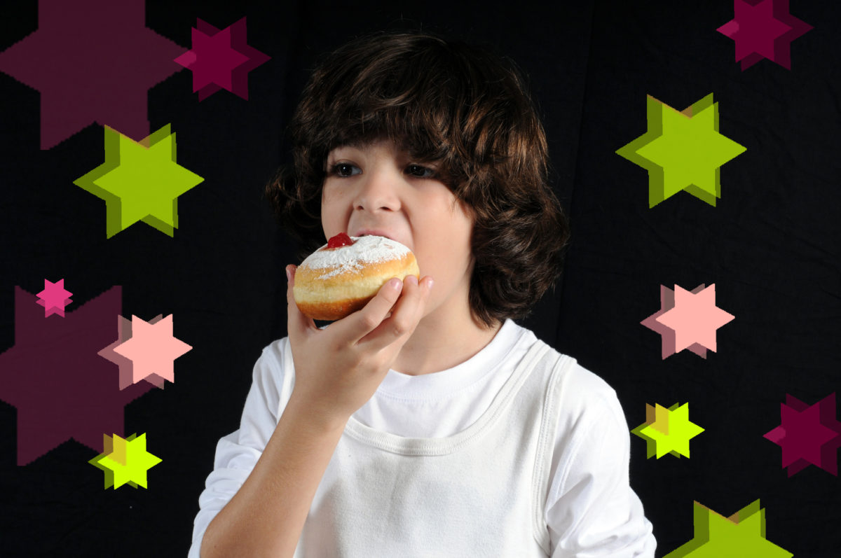 Boy Eating tasty sweets
