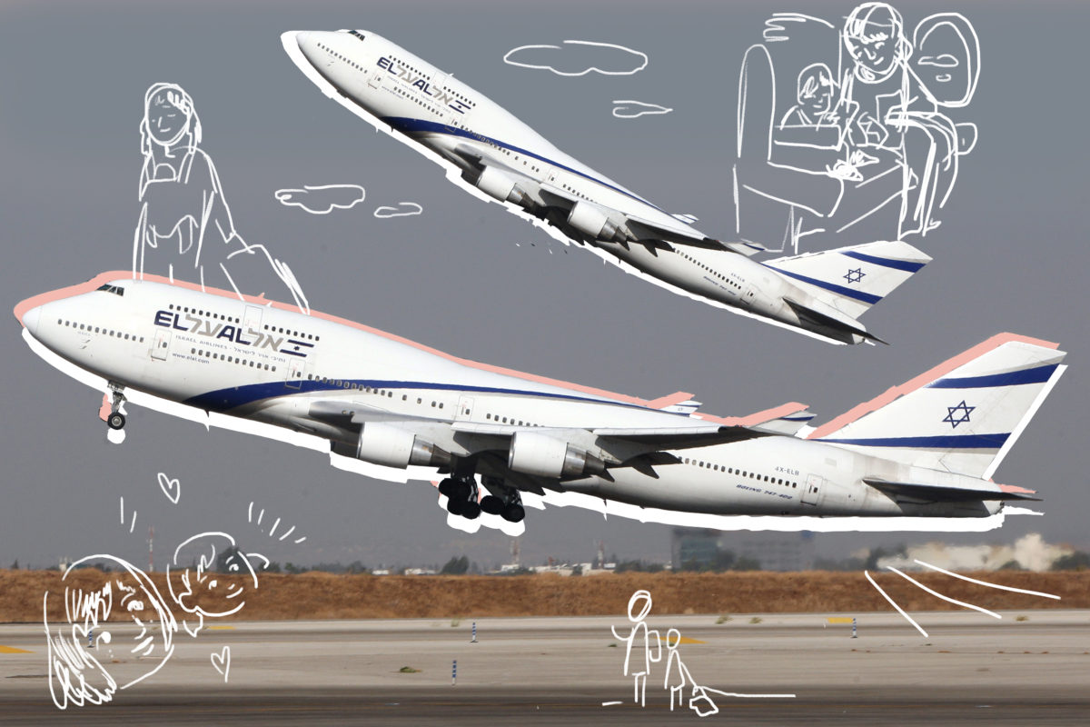 A Boeing 777-200 from Israeli airliner E