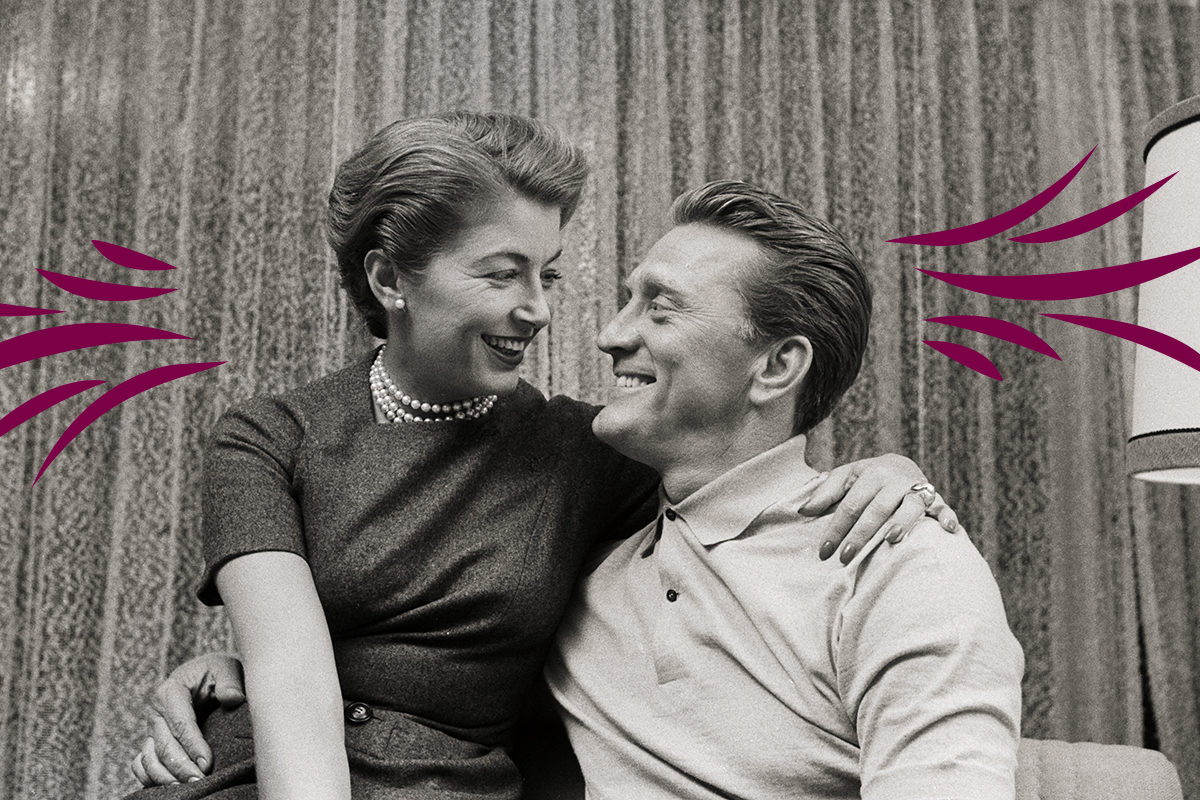 Kirk Douglas and Wife Anna
