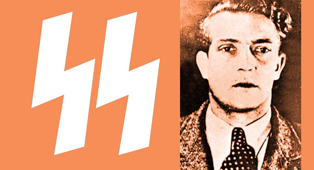 SS symbol and Gustav Wagner