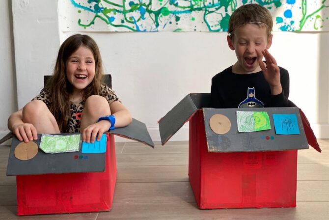 The Best Therapy For Cooped-Up Kids? Cardboard.