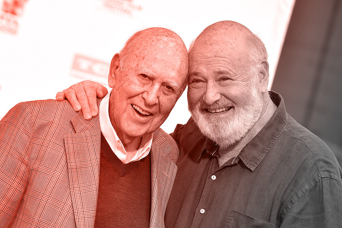 HOLLYWOOD, CA - APRIL 07: Carl Reiner and Rob Reiner are honored with Hand and Footprint Ceremony, part of the 2017 TCM Classic Film Festival at TCL Chinese Theatre IMAX on April 7, 2017 in Hollywood, California. (Photo by Axelle/Bauer-Griffin/FilmMagic)