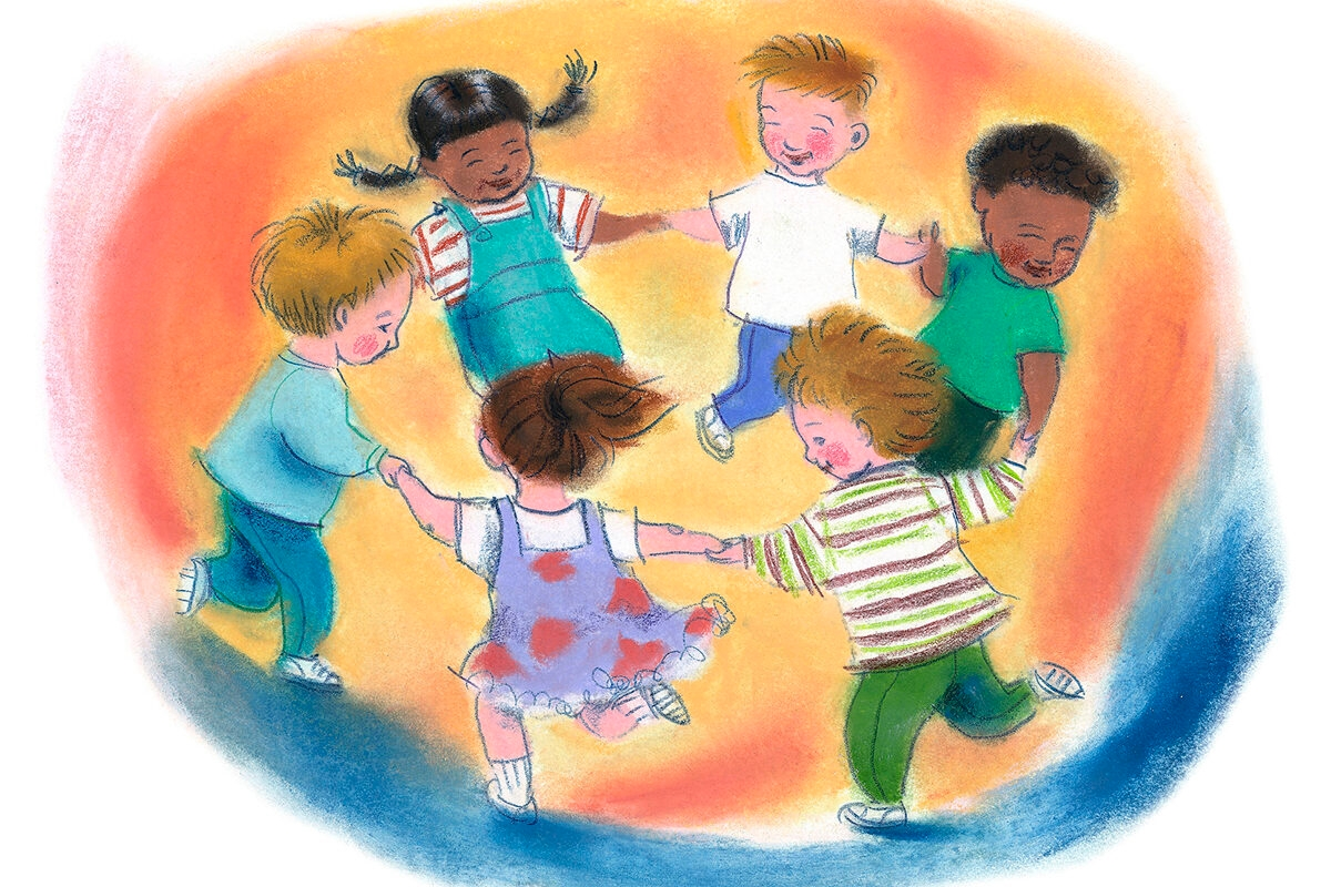 Circle of Children Holding Hands