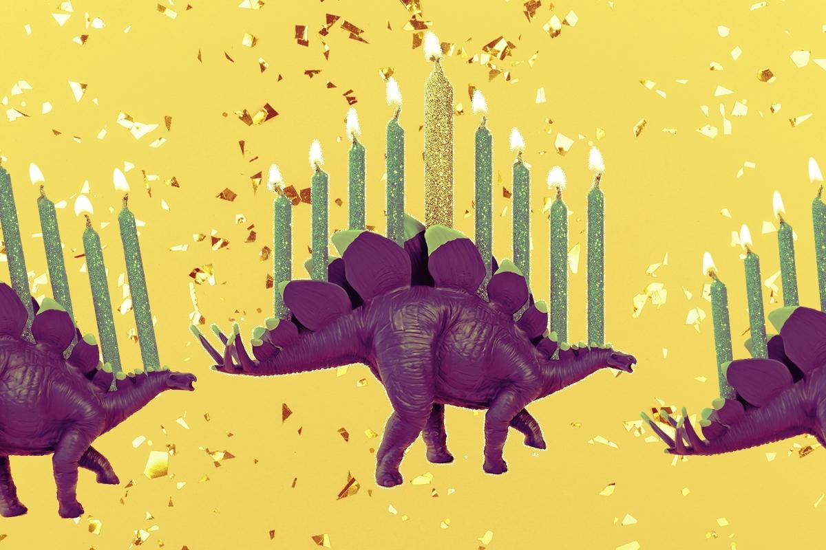 stegosaurus menorah