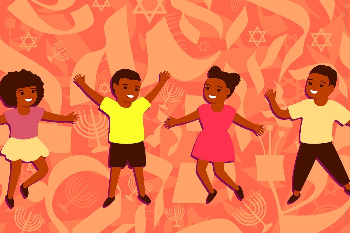 Seamless Jewish themed pattern