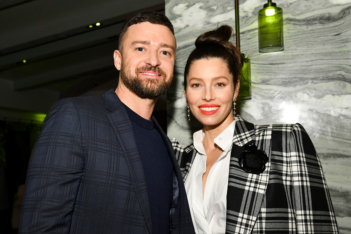 "WEST HOLLYWOOD, CALIFORNIA - FEBRUARY 03: (L-R) Justin Timberlake and Jessica Biel pose for portrait at the Premiere of USA Network's ""The Sinner"" Season 3 on February 03, 2020 in West Hollywood, California. (Photo by Rodin Eckenroth/Getty Images)"