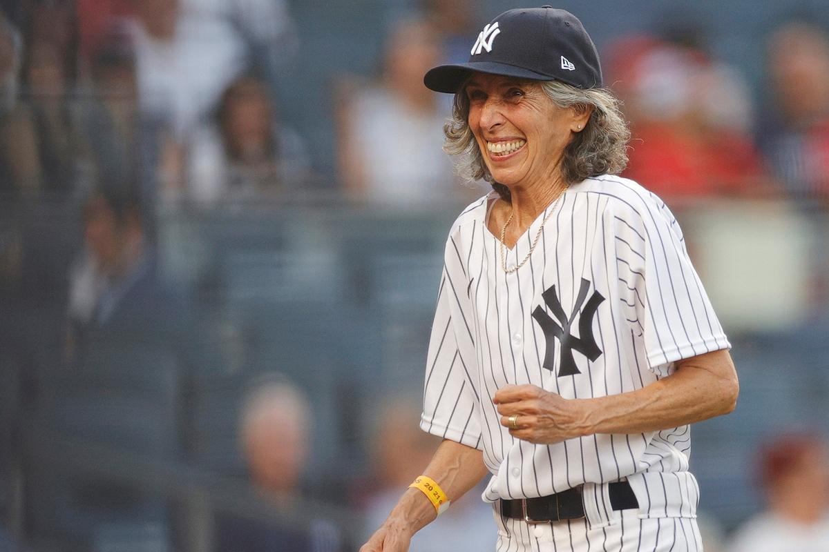 Gwen Goldman at Yankee Stadium.
