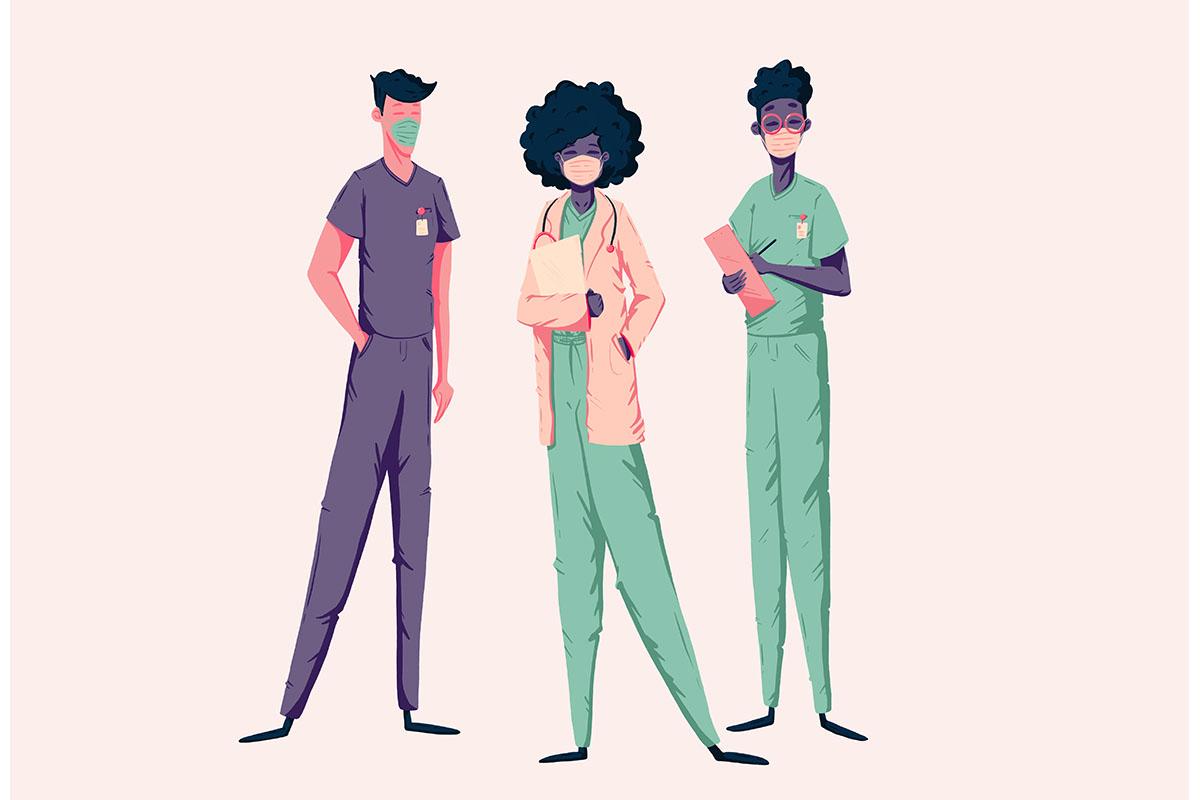 team of doctors and nurses.