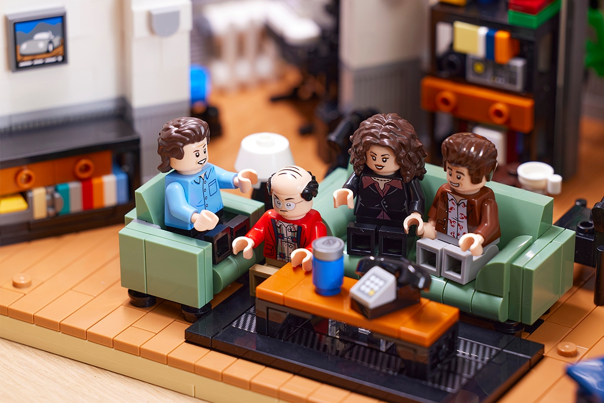 Lego figures of the characters from 'Seinfeld'