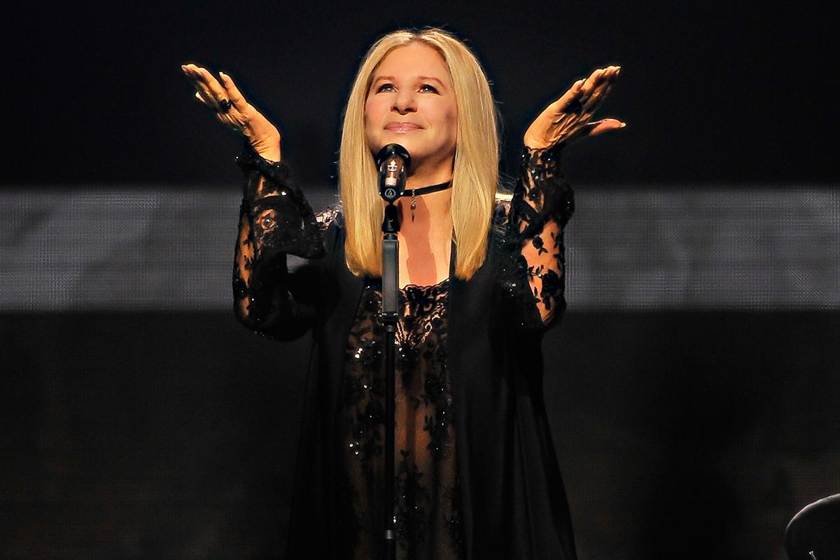 Barbra Streisand performing