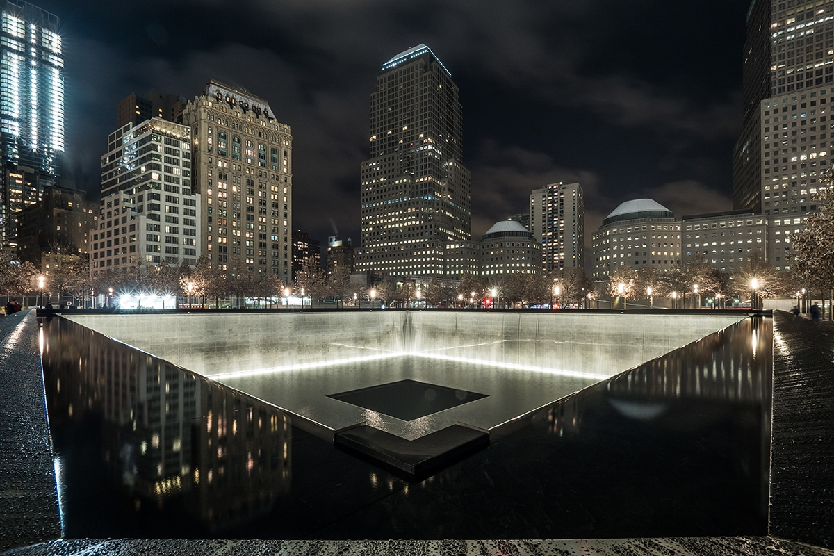 The 9/11 Memorial in Lower Manhattan