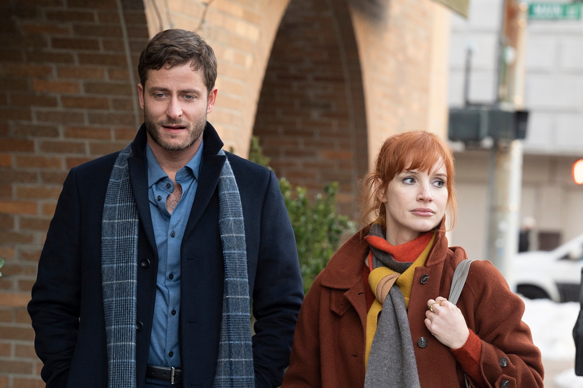Michael Aloni and Jessica Chastain in Scenes from a Marriage
