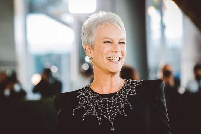 LOS ANGELES, CALIFORNIA - SEPTEMBER 25: (EDITORS NOTE: Image has been edited using digital filters) Jamie Lee Curtis attends The Academy Museum of Motion Pictures Opening Gala at Academy Museum of Motion Pictures on September 25, 2021 in Los Angeles, California.
