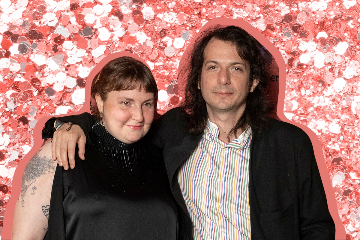 """LONDON, ENGLAND - AUGUST 01: Lena Dunham and Luis Felber attend the """"Zola"""" special screening at Picturehouse Central on August 01, 2021 in London, England."""